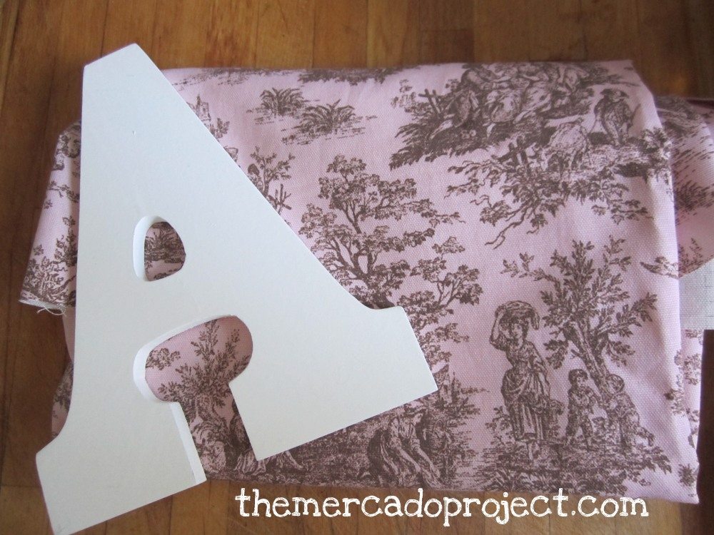 DIY fabric covered wooden letters (1/6)