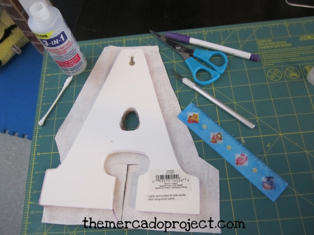 DIY fabric covered wooden letters (5/6)