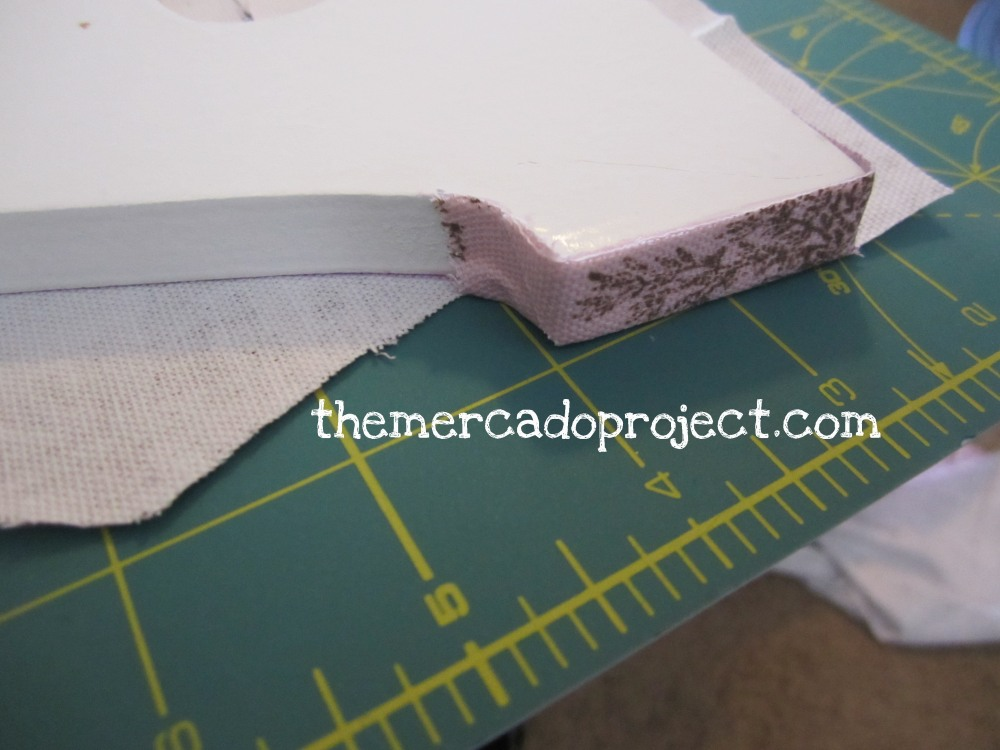 DIY fabric covered wooden letters (6/6)