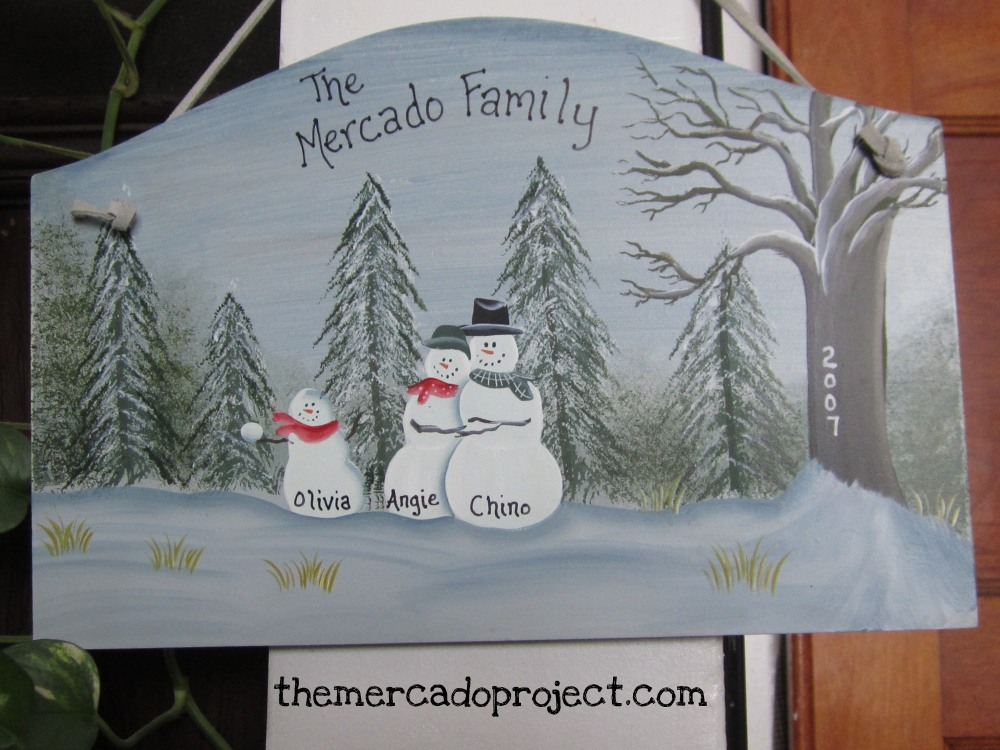 DIY - Updating Snowman Family Wood Plaque  (1/6)
