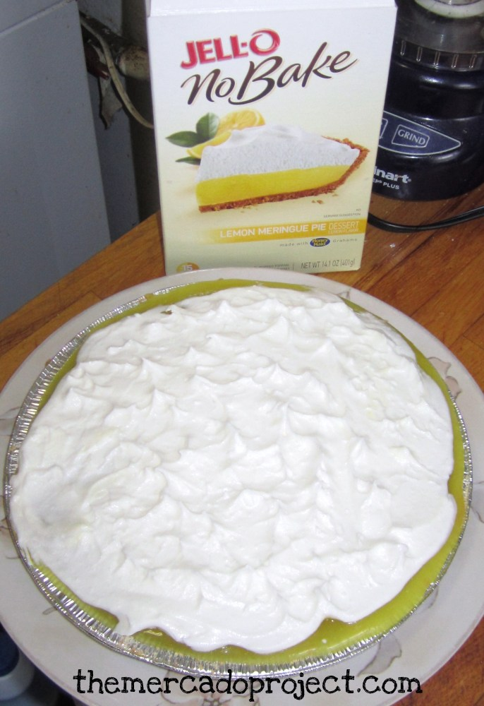 Jell-O No Bake Lemon Meringue Pie (1/2)