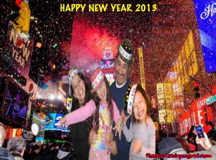 happy new year 2013text