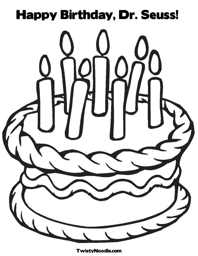 Happy Birthday Themercadoproject Happy Birthday Dr Seuss Coloring Page