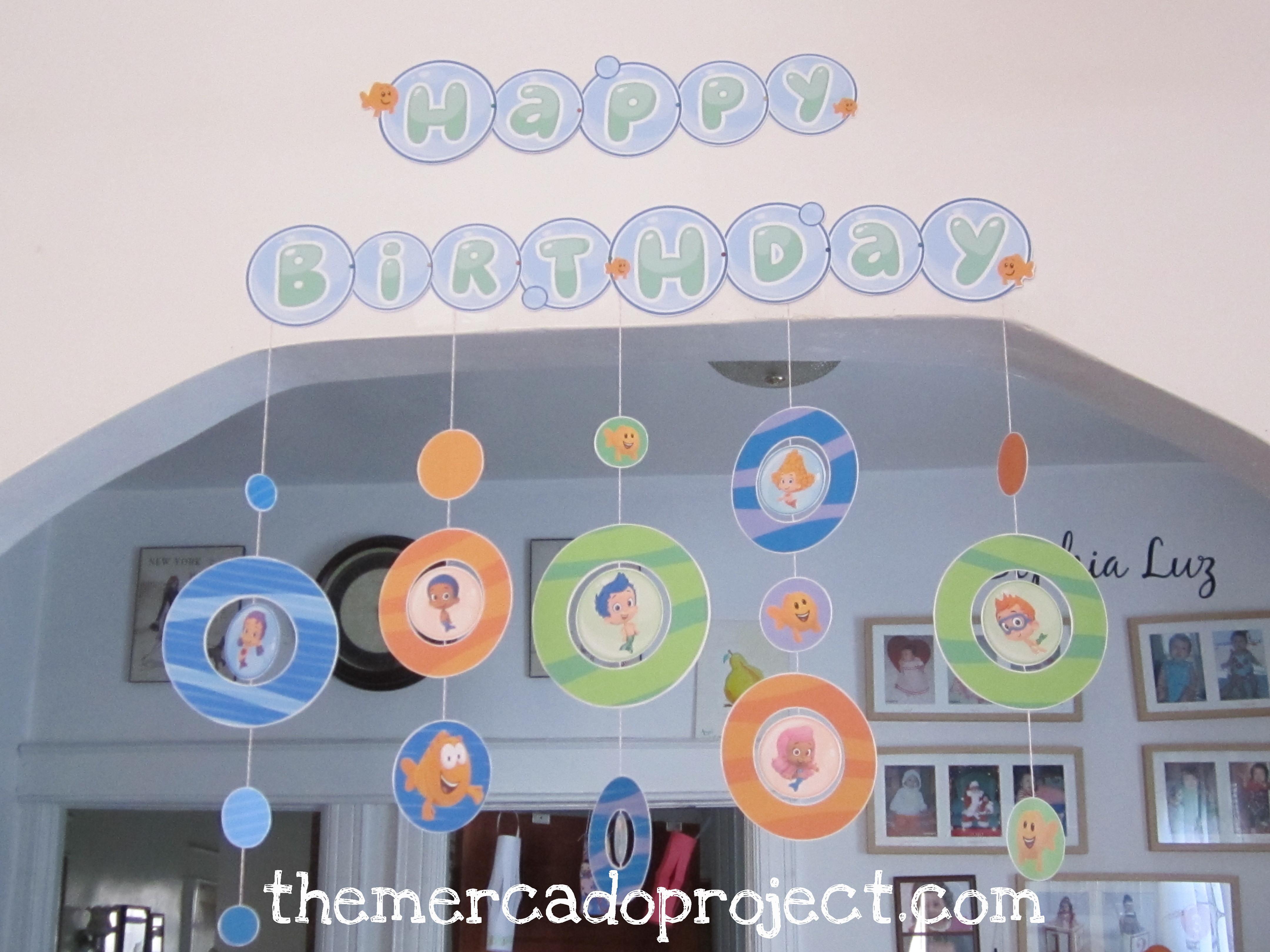 Bubble Guppies Birthday Banner Template Traffic Club