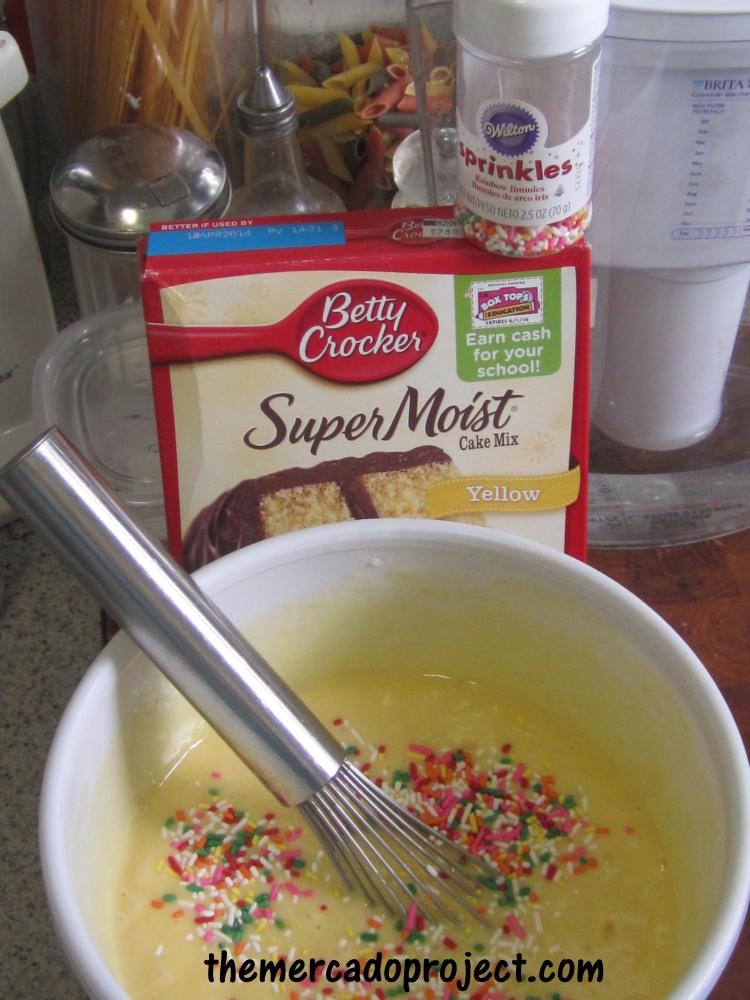 Butter Scotch candy + Funfetti Cupcakes = Yumminess! (1/4)