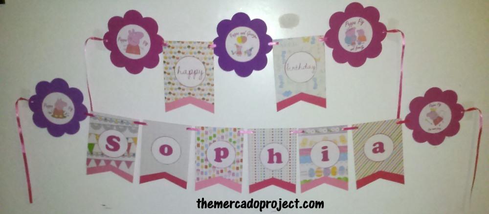 DIY Peppa Pig Birthday Banner (4/4)
